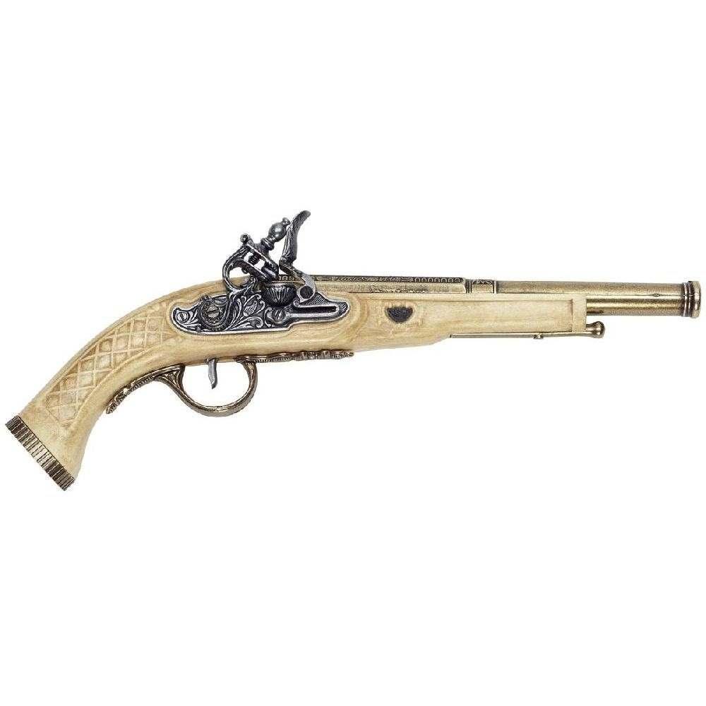 Steinschloss-Pistole Elfenbein