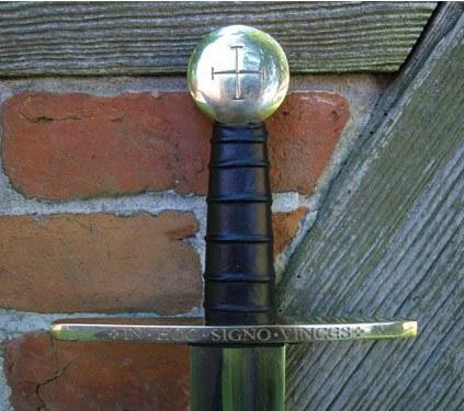 Bild Nr. 02 Schaukampf-Kreuzritterschwert graviert