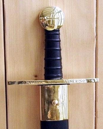 Bild Nr. 04 Schaukampf-Kreuzritterschwert graviert