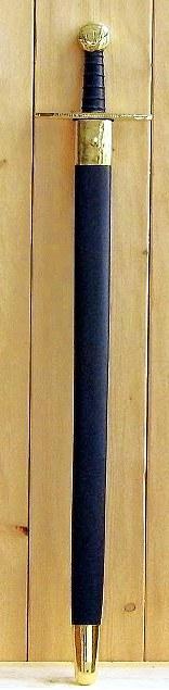 Bild Nr. 05 Schaukampf-Kreuzritterschwert graviert