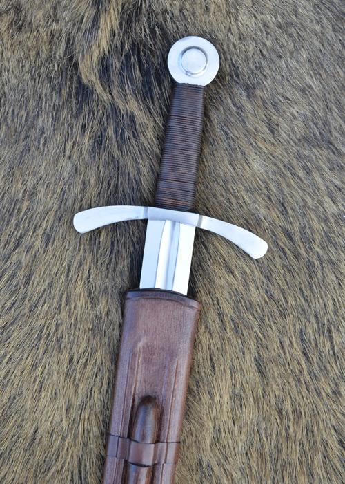Bild Nr. 01 Scheibenknauf Schaukampfschwert mit Scheide