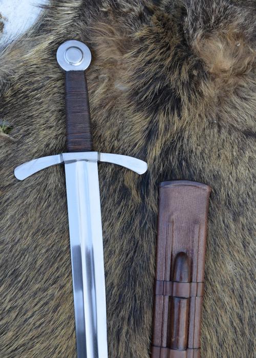 Bild Nr. 03 Scheibenknauf Schaukampfschwert mit Scheide