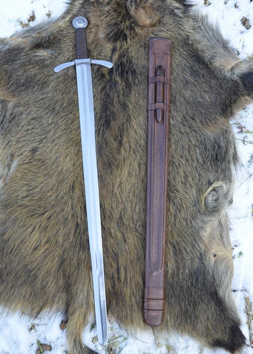 Bild Nr. 04 Scheibenknauf Schaukampfschwert mit Scheide