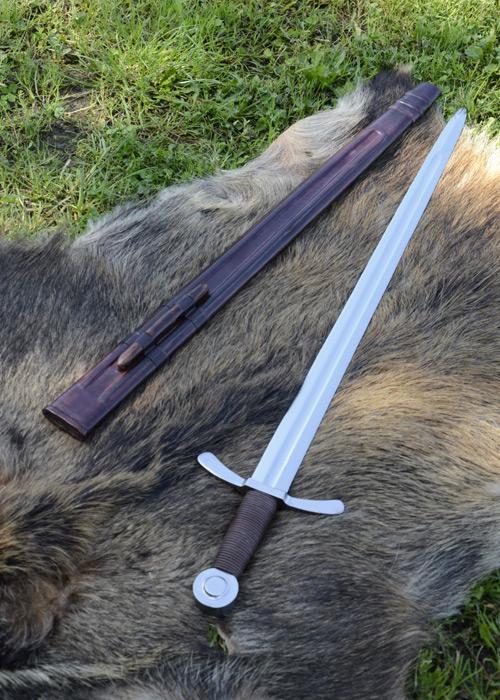 Bild Nr. 05 Scheibenknauf Schaukampfschwert mit Scheide
