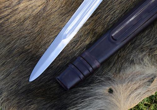 Bild Nr. 06 Scheibenknauf Schaukampfschwert mit Scheide