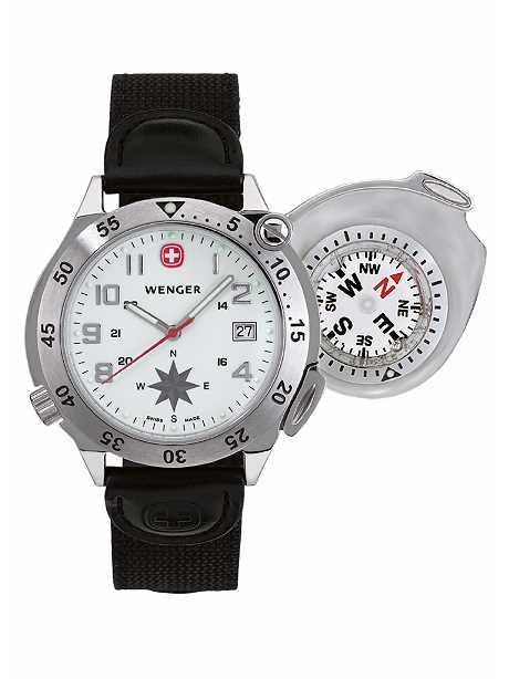 kompass uhr wenger compass navigator herren armbanduhr. Black Bedroom Furniture Sets. Home Design Ideas