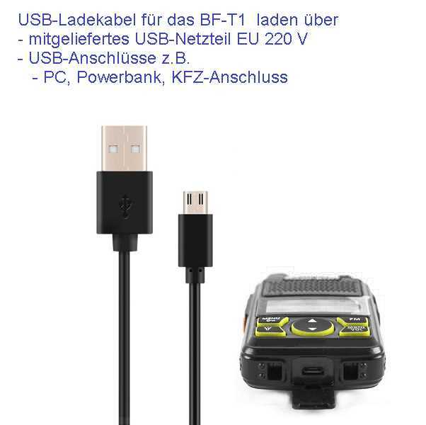 Bild Nr. 08 Baofeng BF-T1 Mini Walkie Talkie