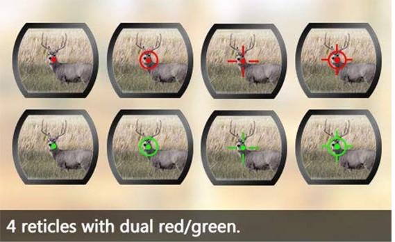 Bild Nr. 05 Reflex-Visier Rot Grün 4 Absehen