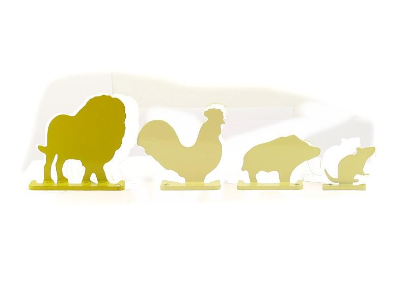 Aufstellziel Tiersilhouette Löwe Stahl