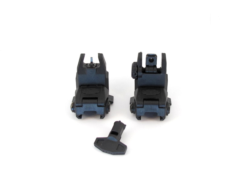 Bild Nr. 02 Flip Up Viser Front & Rear  schwarz 20mm Rail