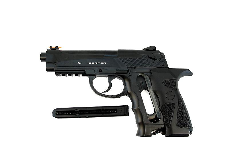 Bild Nr. 09 CO2-Pistole Borner SPORT 306 SET EXTRA