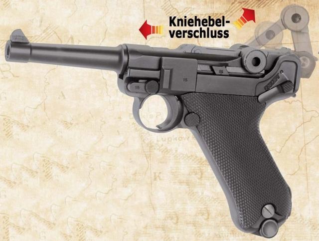 Bild Nr. 04 Pistole Luger P 08 6mmBB Vollmetall Kniegelenk frei ab 18