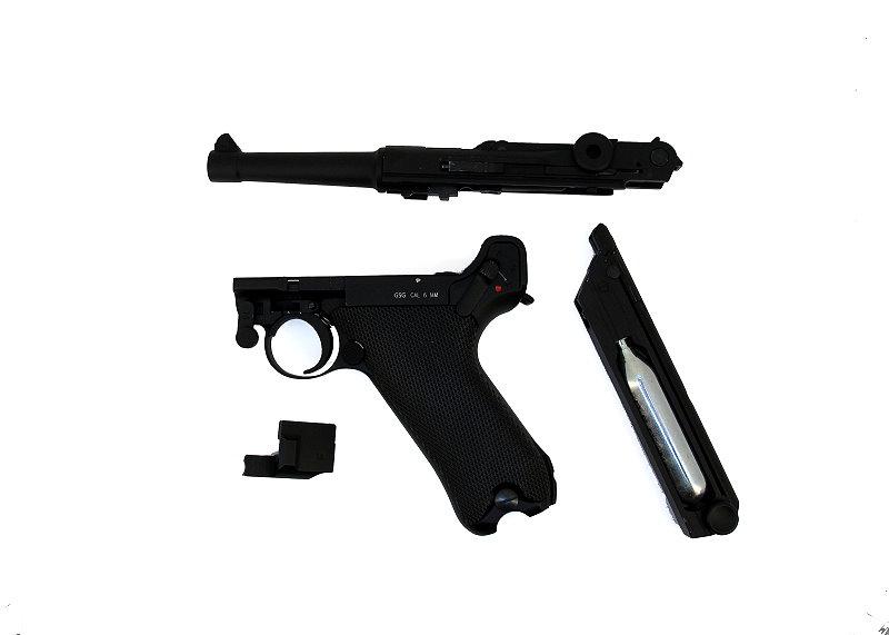 Bild Pistole Luger P 08 6mmBB Vollmetall Kniegelenk frei ab 18 Abb. Nr. 05