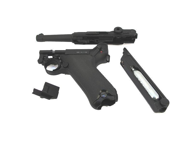Bild Nr. 06 Pistole Luger P 08 6mmBB Vollmetall Kniegelenk frei ab 18