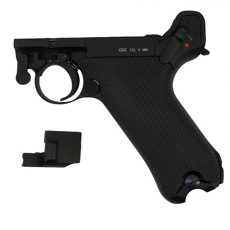 Bild Nr. 08 Pistole Luger P 08 6mmBB Vollmetall Kniegelenk frei ab 18