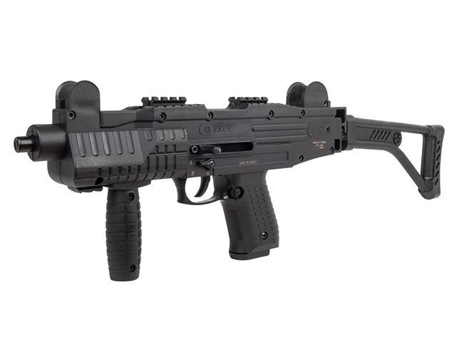 Bild Nr. 02 Ekol ASI mit Klappschaft Schreckschuss-Maschinenpistole