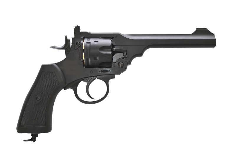 Bild Webley MK VI Revolver 6mm schwarz Vollmetall Abb. Nr. 1
