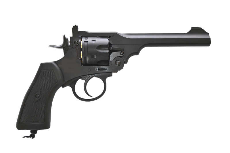 Webley MK VI Revolver 6mm schwarz Vollmetall