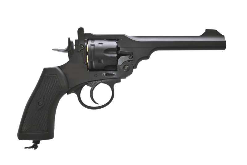 Bild Webley MK VI Revolver 6mm schwarz Vollmetall Abb. Nr. 03