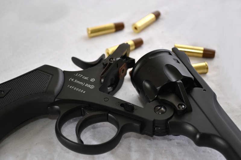 Bild Webley MK VI Revolver 6mm schwarz Vollmetall Abb. Nr. 04