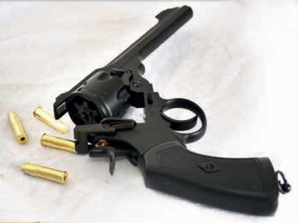 Bild Webley MK VI Revolver 6mm schwarz Vollmetall Abb. Nr. 05