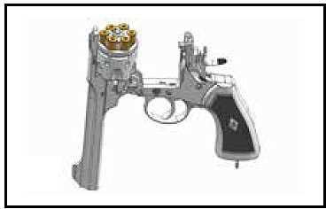 Bild Webley MK VI Revolver 6mm schwarz Vollmetall Abb. Nr. 09