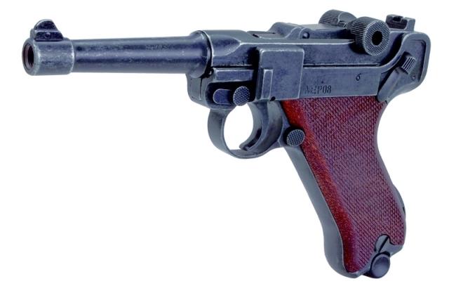 Bild Schreckschuss-Pistole P 08 mit Kniegelenkverschluss Kal. 9mm P.A.K. Abb. Nr. 02