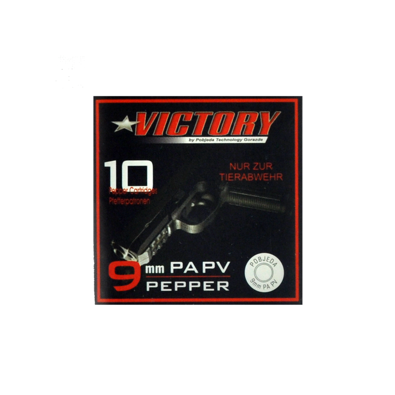 Pfeffer Patron 9mm PA Victory 10 Schuss