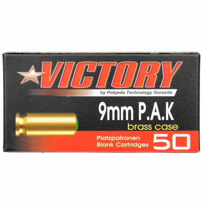 Platzpatronen Kaliber 9mm PAK Messinghülse