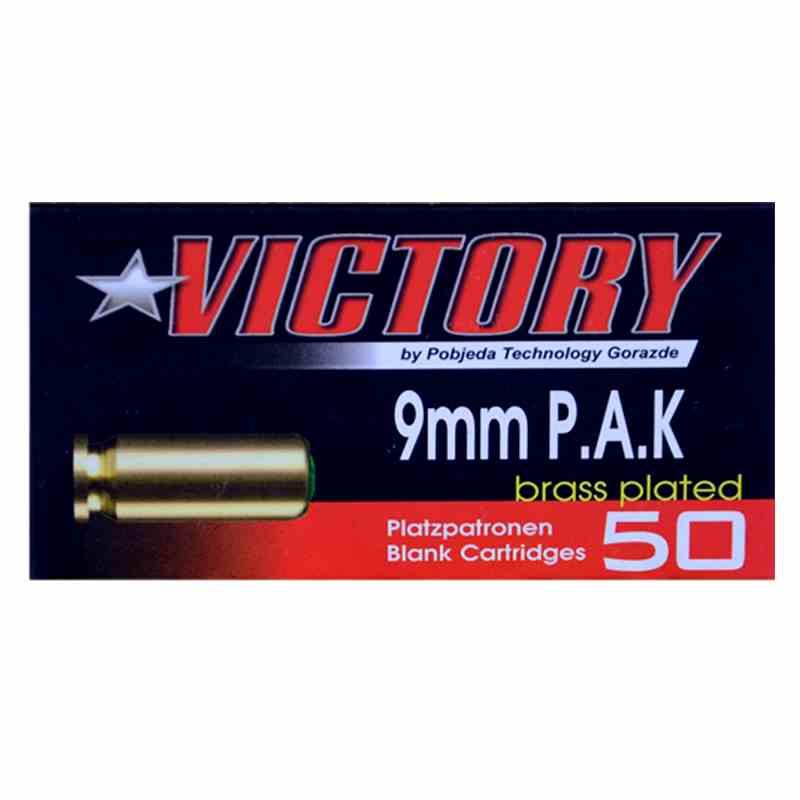 Bild Platzpatronen Victory Kaliber 9mm PAK vermessingt Abb. Nr. 1