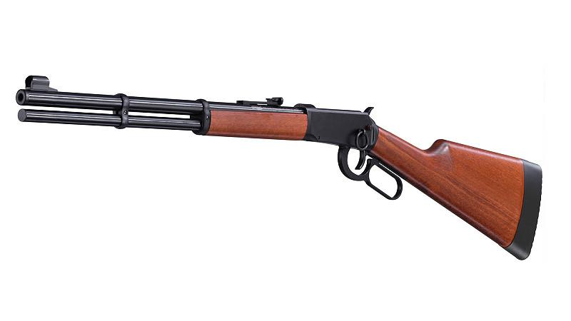 Bild Nr. 05 Winchester Luftgewehr Walther CO2 Lever Action Holz schwarz