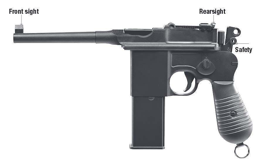 Bild Mauser Pistole C96 cal .177 Abb. Nr. 02