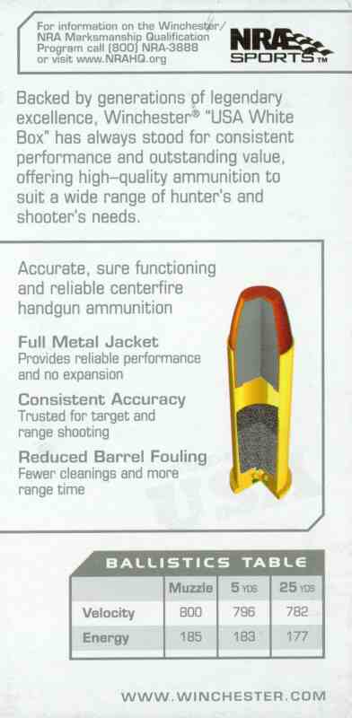 Bild Nr. 02 Winchester .38 Special FMJ 130gr 100 Schuss