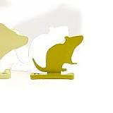 Aufstellziel Tiersilhouette Ratte Stahl