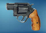 Revolver ME 38 Pocket-4 R lang  brüniert  Holzgriff