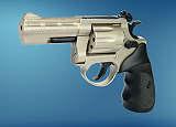 Revolver  ME 38 Magnum-4 R lang  vernickelt  Kunststoffgriff