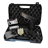 NCIS Agenten-Koffer mit Pistole Sig P239 Marke Ausweis Messer